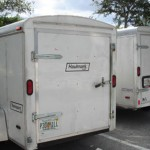 Luggage Trailers for shuttle vans from Ft Lauderdale to Miami Airports and cruise ports